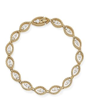 Roberto Coin 18K White and Yellow Gold New Barocco Diamond Bracelet