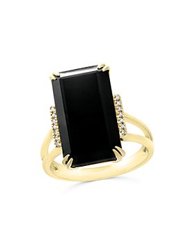 Bloomingdale's - Black Onyx and Diamond Statement Ring in 14K Yellow Gold - 100% Exclusive