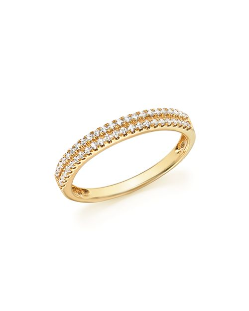 Bloomingdale's - Diamond Double Row Band Ring in 14K Yellow Gold, .25 ct. t.w. - 100% Exclusive
