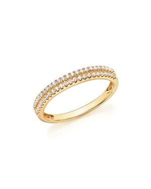 Diamond Double Row Band Ring in 14K Yellow Gold, .25 ct. t.w. - 100% Exclusive