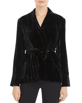 Whistles - Crushed Velvet Jacket - 100% Exclusive