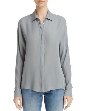 Vince Silk Button-Down Shirt