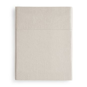 Amalia Home Collection - Stonewashed Linen Flat Sheet, King - 100% Exclusive