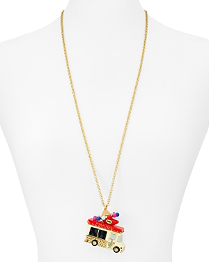 kate spade new york Taco Truck Pendant Necklace, 32