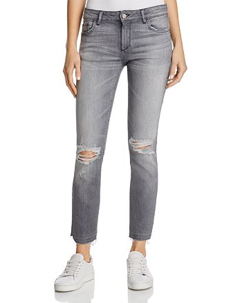 DL1961 - Mara Distressed Straight-Leg Jeans in Shade - 100% Exclusive