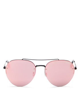 Quay - Women's Somerset Mirrored Aviator Sunglasses, 64mm