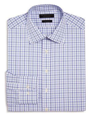The Men's Store at Bloomingdale's Medium Double Check Regular Fit Dress Shirt - 100% Exclusive thumbnail