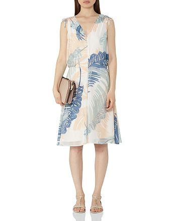 REISS - Sirus Leaf Print Dress