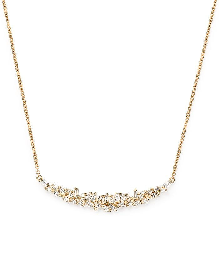 Bloomingdale's - Diamond Baguette Pendant Necklace in 14K Yellow Gold, .40 ct. t.w. - 100% Exclusive