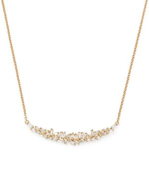 Diamond Baguette Pendant Necklace in 14K Yellow Gold, .40 ct. t.w. - 100% Exclusive