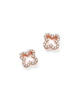 Bloomingdale's - Diamond Clover Stud Earrings in 14K Rose Gold, .20 ct. t.w.- 100% Exclusive