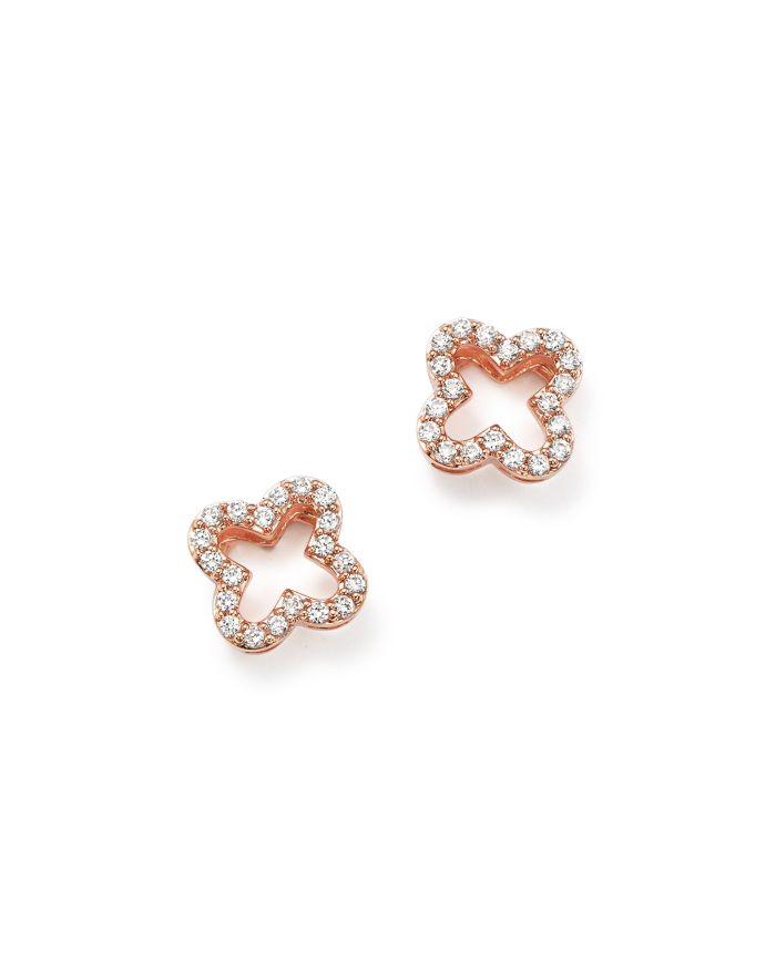 Bloomingdale's Diamond Clover Stud Earrings in 14K Rose Gold, .20 ct. t.w.- 100% Exclusive   | Bloomingdale's