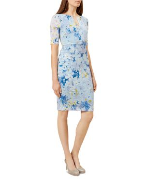 Hobbs London Stefania Stretch-Silk Dress