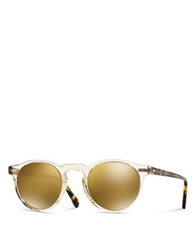 Oliver Peoples - Unisex Gregory Peck Mirrored Sunglasses, 47mm