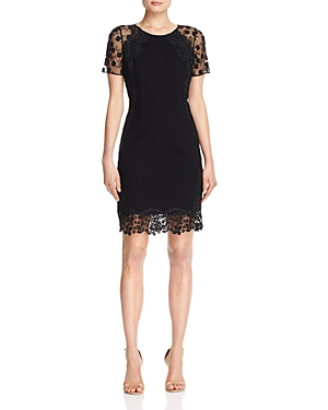 Elie Tahari Yadira Lace Trim Dress