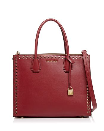 dd73f0d7f469 MICHAEL Michael Kors - Mercer Grommet Convertible Large Leather Tote - 100%  Exclusive
