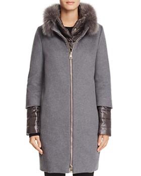 688e16accf510 Herno - Fox Fur Trim Cashmere Coat ...