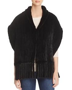 Maximilian Furs Fringed Knit Mink Stole - Bloomingdale's_0