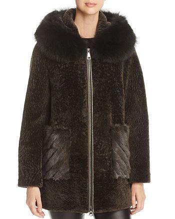 Maximilian Furs - Hooded Lamb Shearling Coat - 100% Exclusive