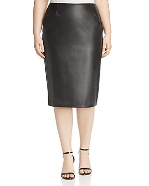 Marina Rinaldi Carioca Faux Leather Pencil Skirt