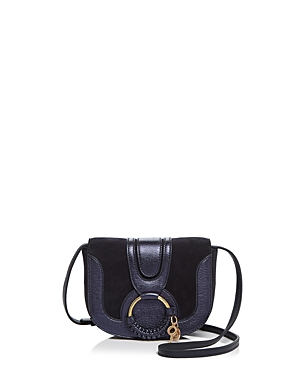 See by Chloe Hana Suede and Metallic Leather Crossbody