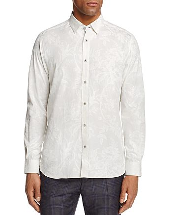 Ted Baker - Tuldale Printed Floral Regular Fit Button-Down Shirt - 100% Exclusive
