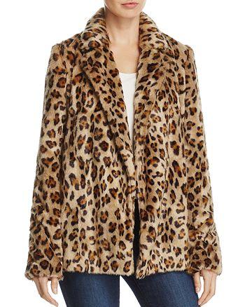 d5b1b2bd5e00 Theory Clairene Leopard-Print Faux-Fur Coat | Bloomingdale's