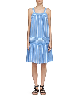 Whistles Simone Striped Smock Dress