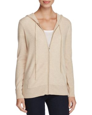 C by Bloomingdale's Cashmere Zip-Front Hoodie - 100% Exclusive