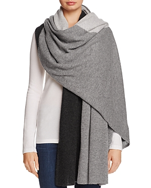 C by Bloomingdale's Cashmere Colorblock Wrap - 100% Exclusive