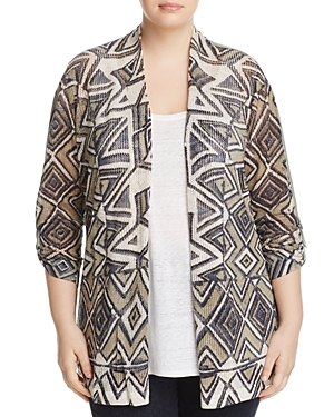Nic and Zoe Plus Mountain Dreams Waffle Knit Cardigan