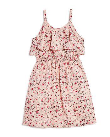 AQUA - Girls' Floral Popover Dress, Big Kid - 100% Exclusive