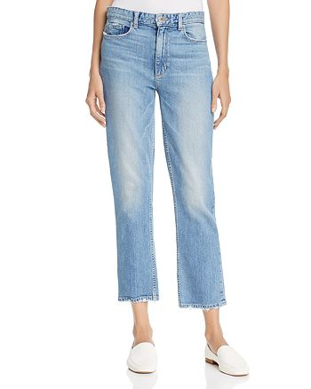 PAIGE - Sarah Crop High Rise Jeans in Jona - 100% Exclusive