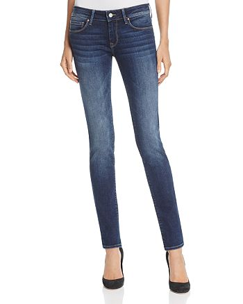 Mavi - Alexa Mid Rise Skinny Jeans in Dark Blue