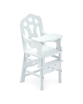 Melissa & Doug - Wooden Doll High Chair - Ages 3+