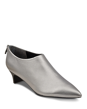 Sigerson Morrison Maria Metallic Leather Pointed Toe Booties