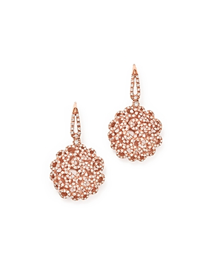 Roberto Coin 18K Rose Gold Moresque Diamond Earrings