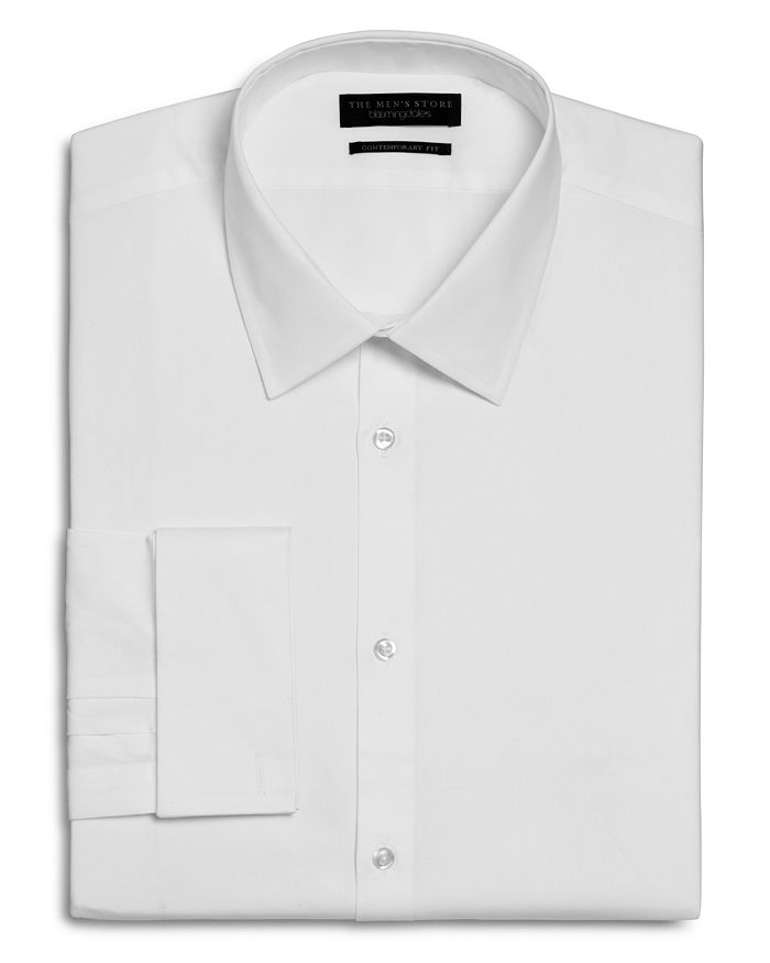 The Men's Store at Bloomingdale's - Textured Solid French Cuff Regular Fit Dress Shirt - 100% Exclusive