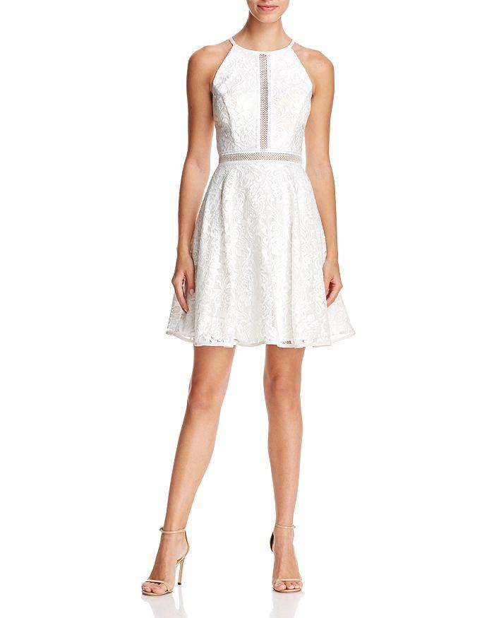 Avery G - Illusion-Inset Lace Dress