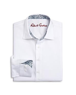 Robert Graham Boys Joy Neat Texture Dress Shirt  Big Kid