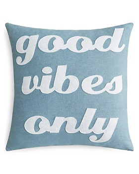 "Alexandra Ferguson - Good Vibes Only Decorative Pillow, 16"" x 16"""