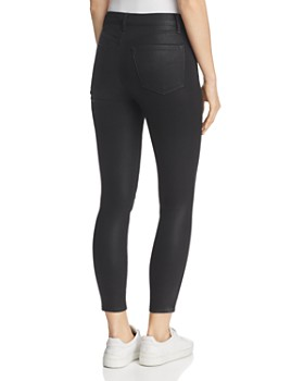 J Brand - Alana Coated High Rise Crop Jeans in Fearless