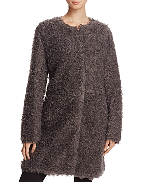 Via Spiga Reversible Lightweight Faux Fur Coat-Women