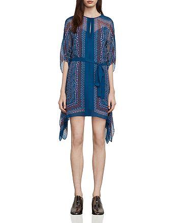 BCBGMAXAZRIA - Inesa Draped Scarf-Print Dress