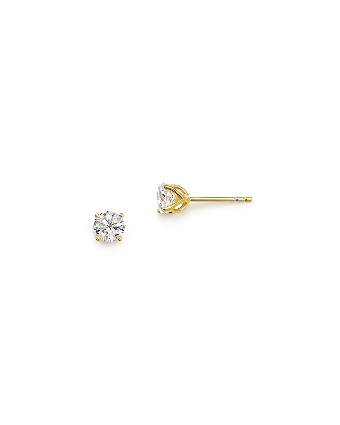 Bloomingdale's - Diamond Round Tulip Stud Earrings in 14K Yellow Gold, .50 ct. t.w. - 100% Exclusive