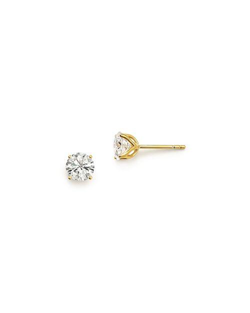 Bloomingdale S Diamond Round Tulip Stud Earrings In 14k Yellow Gold 100 Exclusive