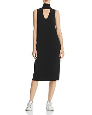 Splendid Cutout Turtleneck Midi Dress