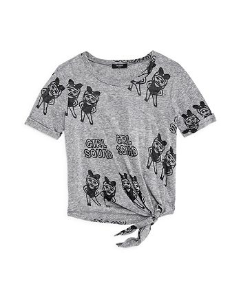 Terez - Girls' Girl Squad Knot-Front Tee - Big Kid