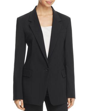 Donna Karan New York One-Button Long Blazer