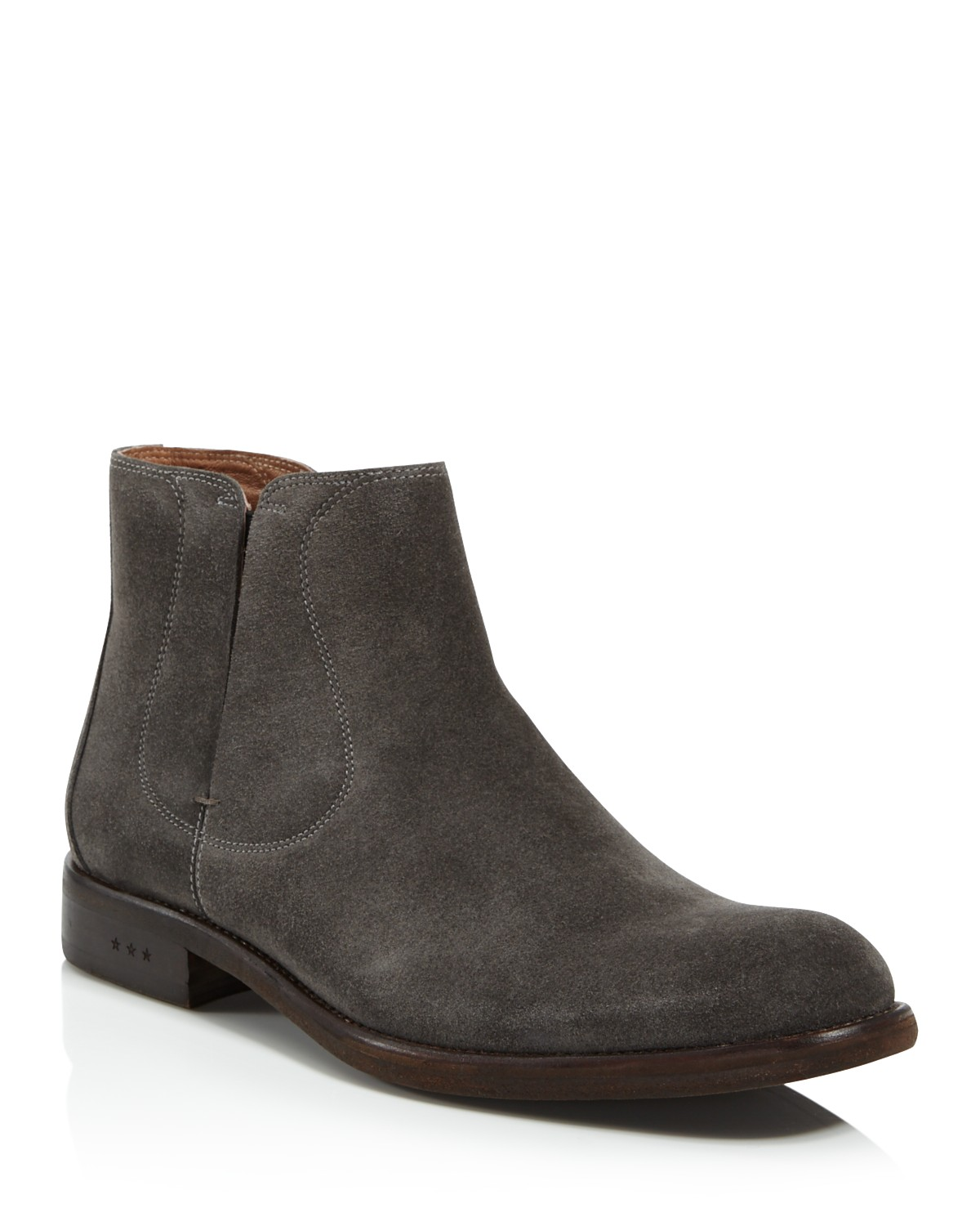 John Varvatos Men's Waverly Covered Suede Chelsea Boots 529lmI